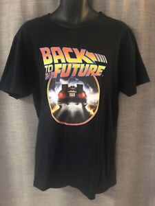 Back To The Future Movie Poster Outatime Men's T Shirt Size XL