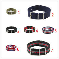 7 Colours 18mm  Military Army Divers  Nylon Watch Strap Band
