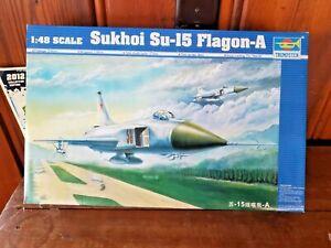 TRUMPETER 1:48 SUKHOI Su-15 FLAGON-A MODEL AIRPLANE KIT  (OPEN BOX)