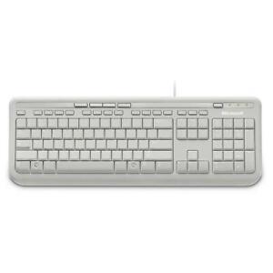Microsoft Wired Desktop 600 Keyboard White ANB-00034 (Black Letters)