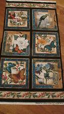 Fabric panel /frames - Birds, Butterflies, Flowers
