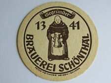 Beer Coaster Pub Bierdeckel ~ Brauerei Schönthal ~ Bavaria, GERMANY ~ SCHONTHAL