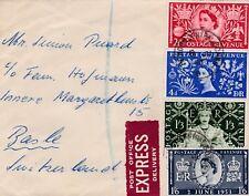 SUPERBE  LETTRE EXPRESS 1953 GRANDE BRETAGNE GB POUR SUISSE