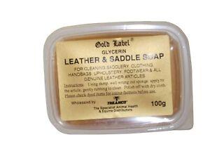 Gold Label Glycerin Leather & Saddle Soap 100gm