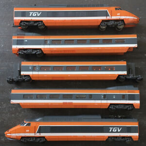 Jouef ,Train Ho, SNCF, TGV Sud Est 5 Éléments, Rame 42, État Moyen à Bon État