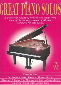 Great Piano Solos - The Show Book - 2005 p/b book