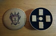 Rare Limited Edition D-Day Brass Zippo Lighter and Keyring Set, circa 1994