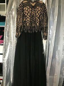 robe longue de soirée noir