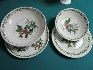 PORTMEIRION THE HOLLY AND THE IVY BOWL AND PLATTER SET CHRISTMAS DECOR PICK 1