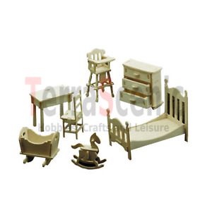 Dolls House Furniture Kit 1:12 Scale Nursery