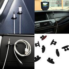 Lots 8Pcs Car Charger Line Headphone USB Cable Car Clip Interior Accessories