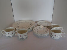 16 Vintage Barratts of Staffordshire England White With Pink Flower Dishes
