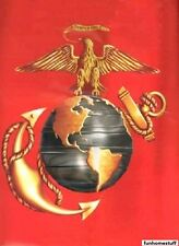 "Signature Plush Soft Queen Size Red Marine Corps Semper Fidelis Blanket 79""x95"""
