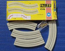 Faller AMS 4546 4 x single lane Curves boxed