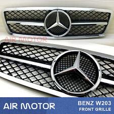 Benz  W203 Shiny Black 2001-2007 Front Grille  C-Class C200 C240 C280 C320