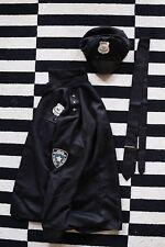 Polizei Uniform Kostüm bestehend aus Hemd, Mütze und Krawatte in Größe L
