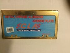 PLAIN GOLD(COLOR) LICENSE PLATE FRAME - CLA