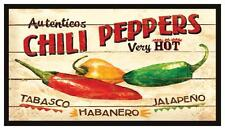 Fridge Magnet: Auténticos CHILI PEPPERS Very Hot (Tabasco, Habanero, & Jalapeño)