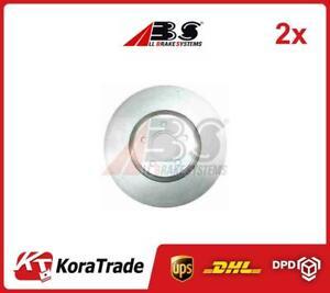 2x OE QUALITY BRAKE DISC SET 17635 ABS P