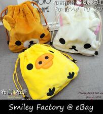 1pc Soft Plush Rilakkuma Buckle String Storage Bag Cosmetic Drawstring Bag