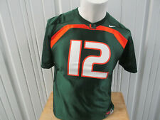 VINTAGE NIKE UM MIAMI HURRICANES #12 YOUTH MEDIUM GREEN JERSEY PRE-OWNED WOMENS