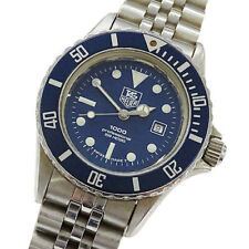 TAG HEUER Watch 1000 980.615N/1 Blue  Quartz St.Steel Date   T3834