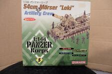 DRAGON 1/144 PANZER KORPS GERMAN 54cm MORSER ''LOKI'' + CREW BOXED no5