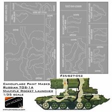 Camouflage Paint Masks for Russian TOS-1A Multiple Rocket Launcher 05582