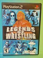 Legends of Wrestling Hulk Hart PS2 Playstation 2 Game 1 Owner FLAWLESS Mint Disc