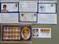Lot of 5 Princess Diana Official First Day Cover+ Stamps