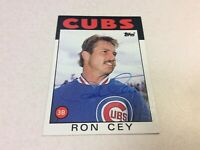 1986 Topps Chicago Cubs Autographed Ron Cey Baseball Card