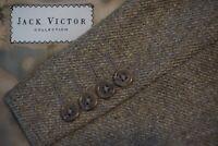 Jack Victor Vitalewood Brown Loro Piana Cashmere Goat Blend Tweed Sport Coat 42L