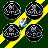 4 adhésifs stickers LOTUS noir chrome 40 à 100 MM pour centre de jantes