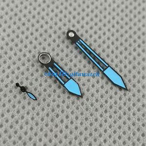 Blue watch hands suitable ETA 6497 Seagull ST3600 movement