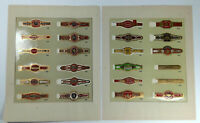 Two Sheets of Vintage CIGAR BAND Labels (24)