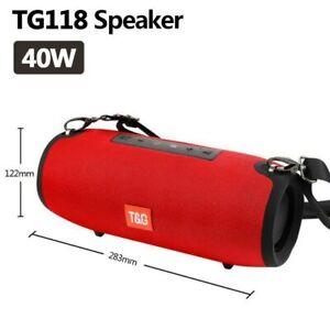 Bluetooth Speaker 40W TG118 High Power Portable Speaker Outdoor Waterproof