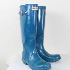 Hunter Ladies Brown Rain Boots Size 6M/7F/ EU 38