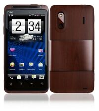 Skinomi Phone Skin Dark Wood+Screen Protector for HTC Evo Design 4G Boost Mobile