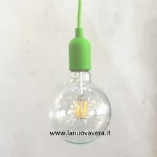 SOSPENSIONE LAMPADARIO ART. EDISON LED VERDE ACIDO SUPER PREZZO FILAMENT 8W LED
