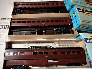 3 boxed Athearn Passenger car kits.....
