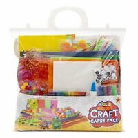 Craft Carry Pack - Children's Art and Craft Kit - Contains Lolly Sticks for
