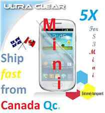 5X HD clear screen protector Samsung Galaxy Mini S3 MiniS3 guard Transparent