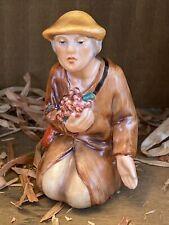 Vintage Goebel (makers of Hummel) Nativity Hx257 G Shepherd Boy W Grapes Nib