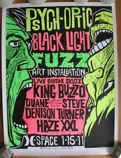 PSYCH-OPTIC BLACK LIGHT Poster 2011 Guitar Noise King Buzzo MELVINS MUDHONEY