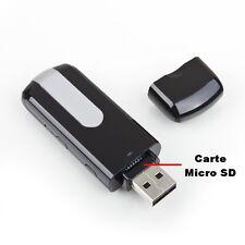 CLÉ USB CAMERA ESPION 32 GO MAX DÉTECTION DE MOUVEMENTS VIDÉO PHOTO DICTAPHONE
