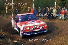 Jimmy MCRAE OPEL MANTA 400 Lombard RAC Rally 1985 FOTOGRAFIA