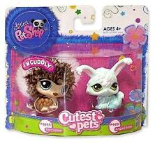 Littlest Pet Shop Cutest Pets Furry HEDGEHOG & ANGORA BUNNY lot #2423 #2424 NIB