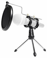 Rockville RTMS21 Desktop Tripod Microphone Stand With Pop Filter + Shock Mount