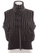 Strickweste schwarz weiß N4 MARC CAIN 40 Weste gestreift Streifen Strickjacke