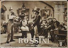 """""""ROSSINI"""" Affiche originale italienne 1942 (Mario BONNARD / Nino BESOZZI)"""
